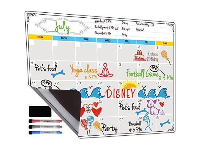 Dry Erase Calendar Fridge Magnetic Calendar White Board Planner for  Refrigerator Monthly amp Weekly Set by Jancosta MPB11 - Newegg com