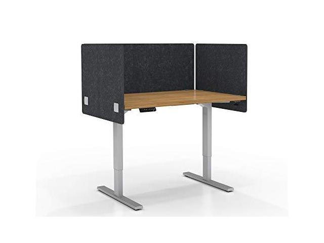 Varoom Acoustic Partition Sound Absorbing Desk Divider Kit 1 48 W X 24h Back Panel Amp 2 24w X 24h Side Panels Privacy Desk Mounted Cubicle Panels