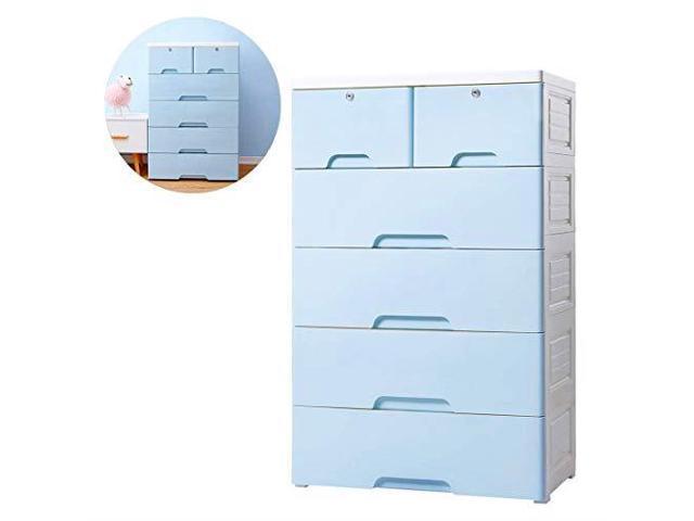 Nafenai 5 Drawer Dressers Kids Storage CabinetHome Storage Drawers with  Lock amp Wheel Plastic Bedroom Storage Bin Closet Kids Toy Box Clothes  Storage