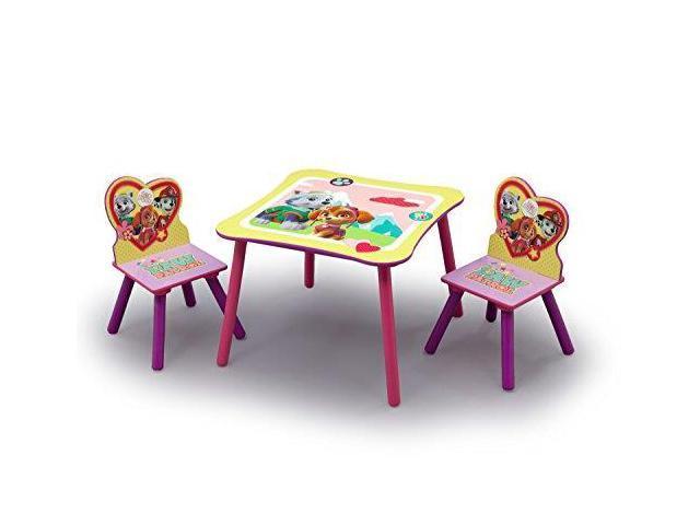 Wondrous Nick Jr Paw Patrol Skye And Everest Kids Table And Chairs Set By Delta Children Newegg Com Frankydiablos Diy Chair Ideas Frankydiabloscom