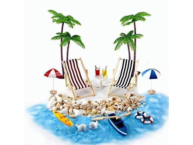 5d81ff4c602 Beach Zen Garden Accessories Mini Desktop Sandbox Decor 16 Pcs Miniature  Doll House Ornament Kits for DIY Fairy Garden Dollhouse and Plant  Decoration ...