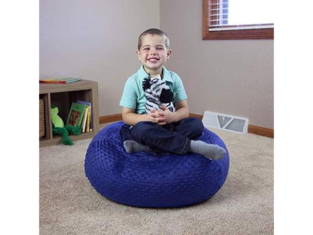 Outstanding Filo Stuffed Animal Bean Bag Chair For Kids Large 30 Blue Toy Newegg Com Theyellowbook Wood Chair Design Ideas Theyellowbookinfo