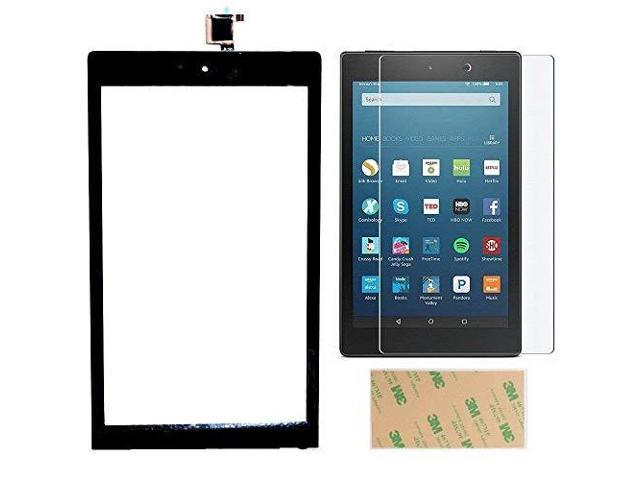 for Kindle Fire HD 8 7th Gen 2017 Release SX034QT Touch Screen Digitizer  Repair Part Replacement with Adhesive Screen Protector NOT for HD 8 Kids  7th