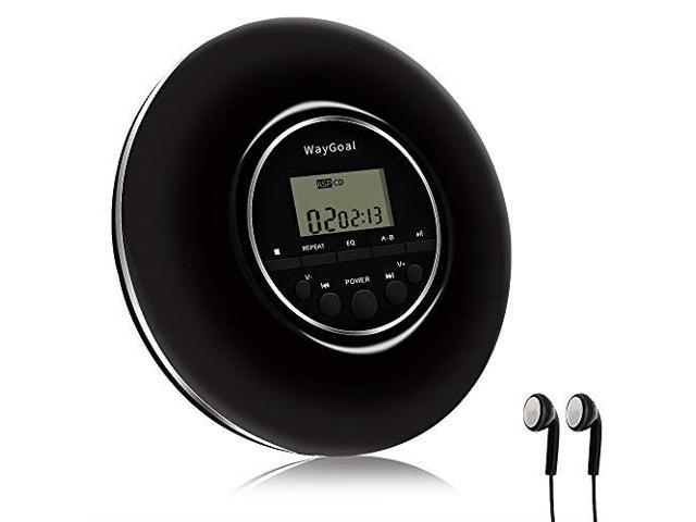 WayGoal Portable CD Player Personal Compact MP3 CD Player with AntiSkip  Protection Headphones LCD Display Small Music Disc Walkman CD Player for  Car