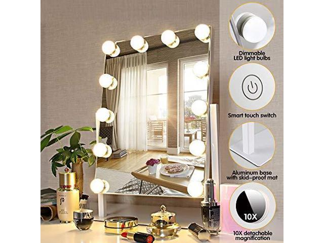 FENCHILIN Hollywood Mirror with Light Large Lighted Makeup Mirror Vanity  Makeup Mirror Smart - Newegg com