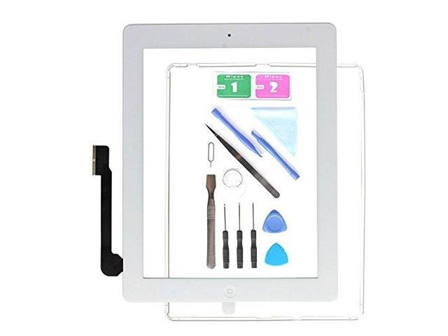 Home Button+Adhesive+Camera Bracket for iPad 2 Lot of 3 Black Touch Digitizer