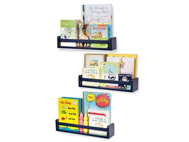 Nursery Décor Wall Shelves 3 Shelf Set Floating Bookshelves For Baby Amp Kids Room Book Newegg