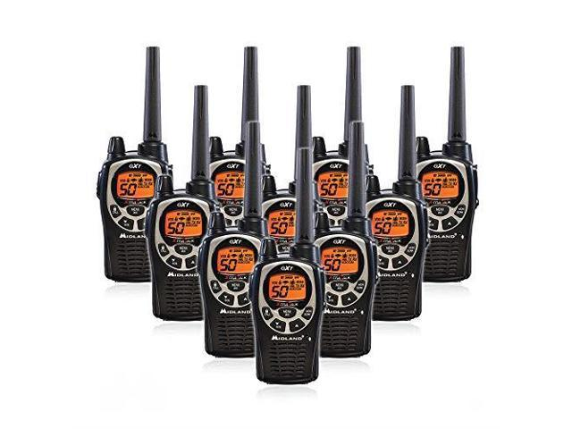 Midland GXT1000VP4 50 Channel GMRS TwoWay Radio Up to 36 Mile Range Walkie  Talkie BlackSilver Pack of 4 - Newegg com