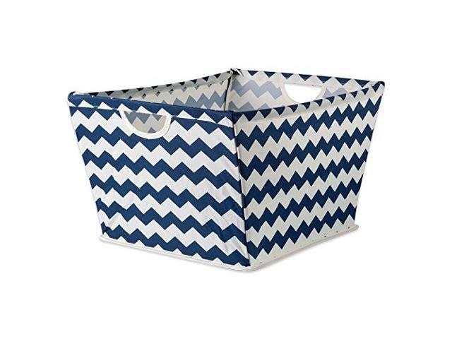 DII Collapsible Polyester Trapezoid Storage Basket Home Organizational  Solution for Office Bedroom Closet amp Toys Small 12x9x8 Gray Chevron - ...