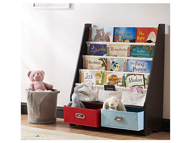 Swell Seirione Kids Book Rack 4 Sling Bookshelf 2 Storage Boxes And Toys Organizer Shelves Beige 1 Year Warranty Newegg Com Home Interior And Landscaping Elinuenasavecom