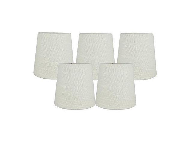 Meriville Set Of 5 Black Linen Clip On Chandelier Lamp Shades 4inch By 5inch By 5inch Newegg Com