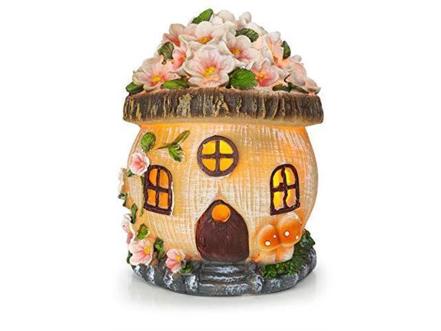 VP Home Gnome Fairy House Solar Garden Light - Newegg com