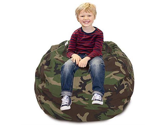 Groovy Cala Stuffed Animal Storage Bean Bag Chair Extra Large 38 Kids Soft Toy Storage 100 Cotton Canvas Bean Bag Chairarmy Green Newegg Com Squirreltailoven Fun Painted Chair Ideas Images Squirreltailovenorg