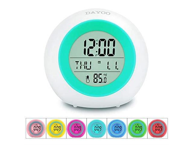 Kids Alarm Clock2019 Version Student Wake Up Digital Clock for School 7  Color Changing Night Light Clock for Boys Girls Bedroom Childrens Clock  with ...