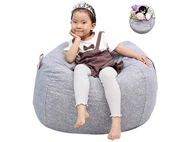 Astonishing Great Eagle Stuffed Animal Storage Bean Bag Chair Cover 38X38 Inches Extra Large Cotton Canvas Bean Bag Chair For Kids Toddlers And Teensboys Or Squirreltailoven Fun Painted Chair Ideas Images Squirreltailovenorg
