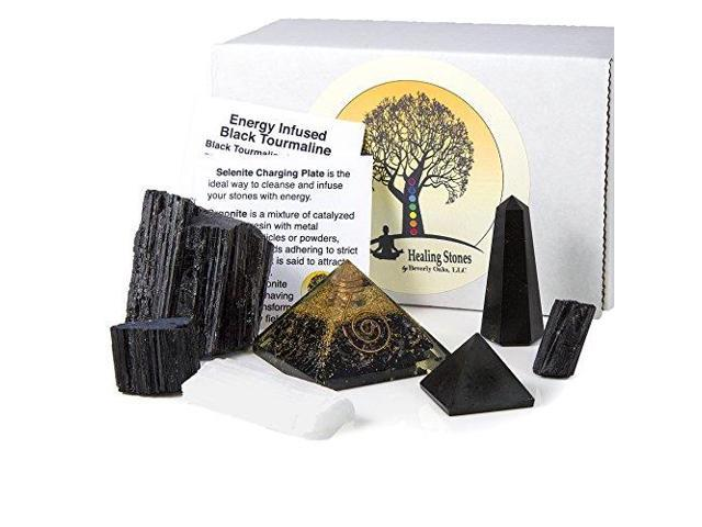 Beverly Oaks Charged Black Tourmaline Crystal Complete Kit Tourmaline Stone  for EMF Protection and Grounding Deluxe - Newegg com