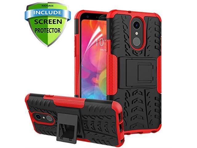 RioGree for LG Q7 Case LG Q7 Plus Phone Case for LG Q7+ LG Q7 AlphaQ7? Cell  Phone Case with Screen Protector Kickstand Cover Skin Black - Newegg com