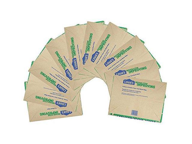 Lowes 30 Gallon Heavy Duty Brown Paper Lawn And Refuse Bags For Home Garden 10 Count Newegg