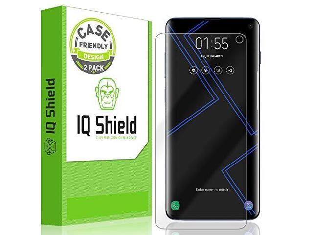 IQ Shield Screen Protector Compatible with Galaxy S10 61 2PackCase Friendly  LiquidSkin AntiBubble Clear Film NOT Compatible with Verizon Samsung S10