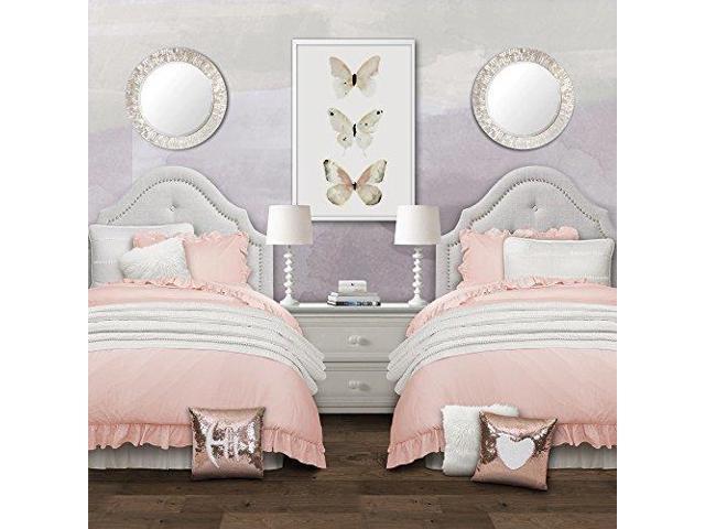 Lush Decor Reyna Comforter Ruffled 2 Piece Bedding Set With Pillow Shams Twin Xl Blush Newegg Com