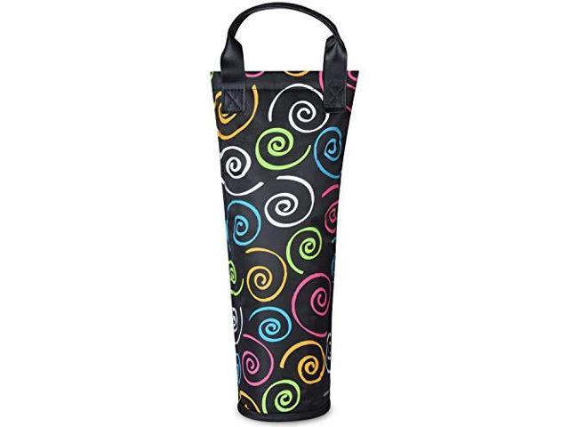 Insulated Single Bottle Nylon Wine Tote Carrier Travel Cooler Bag Purse Leather Handles Steel Opening Reusable Pink Newegg