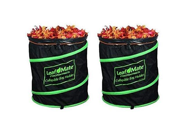 Leafmate Collapsible Yard Bag Holder Heavy Duty Reusable Leaf And Lawn Waste Newegg