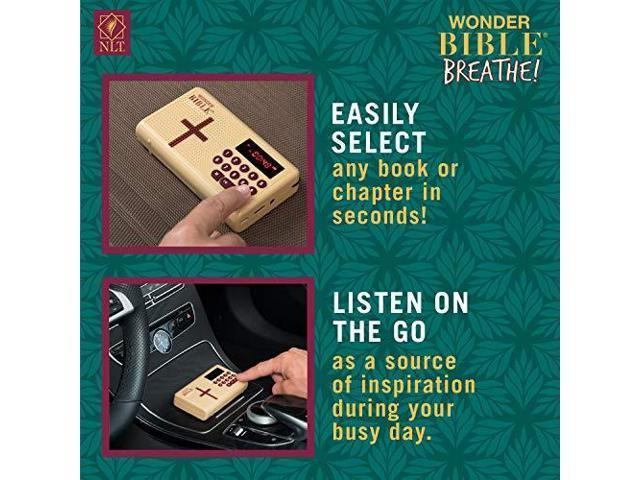 Wonder Bible Breathe The Audio Bible Player That Speaks New Living  Translation As Seen on TV - Newegg com