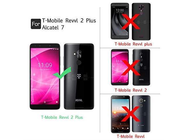 Alcatel 7 Phone Case TMobile Revvl 2 Plus Case Not fit Revvl 2 with  Tempered Glass Protector 2 Pack for Girl WomenLeYi Glitter Bling Diamond  Liquid