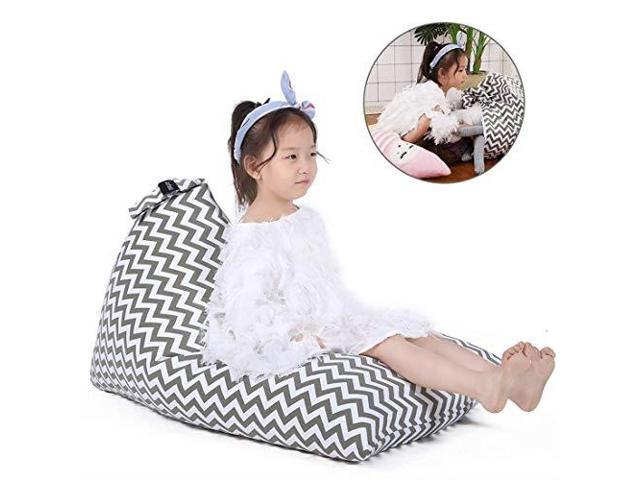 Swell Stuffed Animal Storage Bean Bag Chair For Kids And Adults Premium Canvas Stuffie Seat Cover Only Grey With White Arrows 100L26 Gal Newegg Com Inzonedesignstudio Interior Chair Design Inzonedesignstudiocom