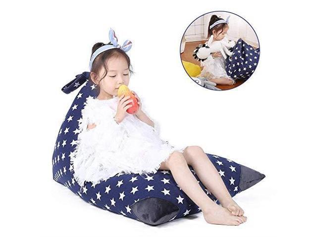 Astounding Stuffed Animal Storage Bean Bag Chair For Kids And Adults Premium Canvas Stuffie Seat Cover Only Grey With White Arrows 100L26 Gal Newegg Com Inzonedesignstudio Interior Chair Design Inzonedesignstudiocom