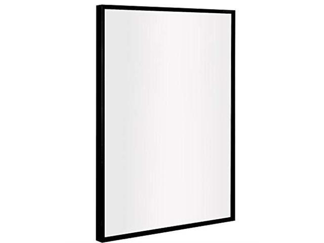 Bathroom Mirror for Wall Mounted Mirrors for Wall Decorative 30x40Inch  Black Wood Framed Mirror Clean Floating Panel Hangs Horizontal or Vertical  for ...