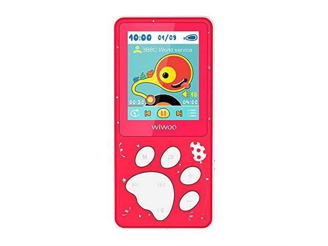 Wiwoo MP3 Player for Kids Portable Music Player with FM Radio Video Games  Sleep Timer Voice Recorder 18 LCD Screen MP3 Music Player Support Up to
