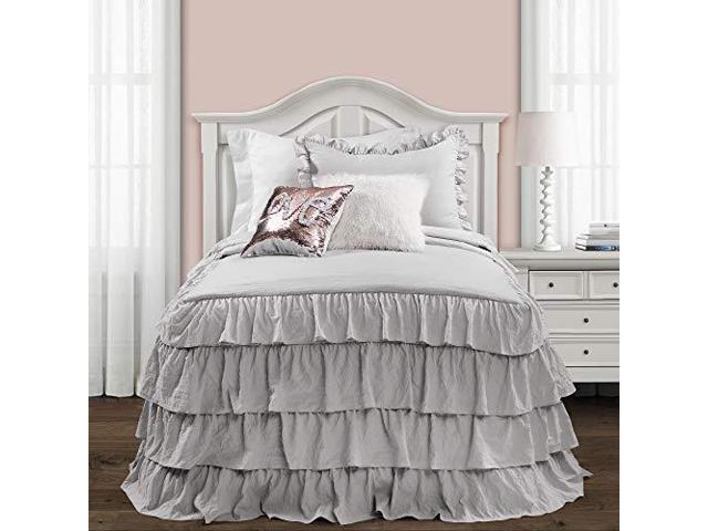 Incredible Lush Decor Lush Decor Ravello Pintuck Ruffle Skirt Bedspread White Shabby Chic Farmhouse Style Lightweight 2 Piece Set Twin Newegg Com Download Free Architecture Designs Intelgarnamadebymaigaardcom