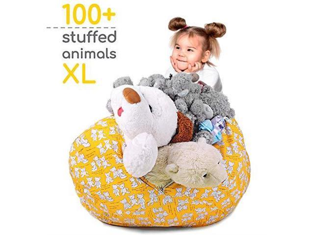 Sensational Zupo Crafts Stuffed Animal Storage Bean Bag Toy Storage Bean Bag Cover Extra Large Size 38 Soft Cotton Canvas Plush Toy Organizer Beanbag For Kids Squirreltailoven Fun Painted Chair Ideas Images Squirreltailovenorg