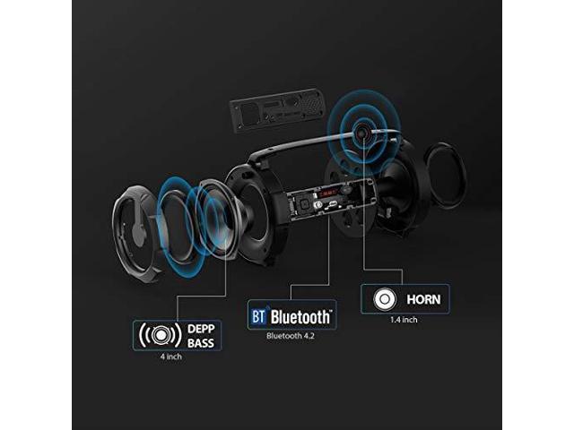 Street Blaster Bluetooth Wireless Stereo Speaker w// Built-in LED Lights