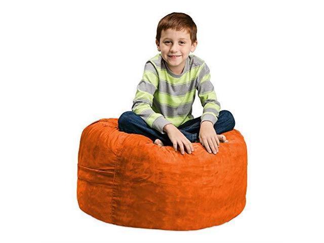 Chill Sack Bean Bag Chair Large 2 Memory Foam Furniture Bean Bag Big Sofa  with Soft Micro Fiber Cover Black - Newegg com