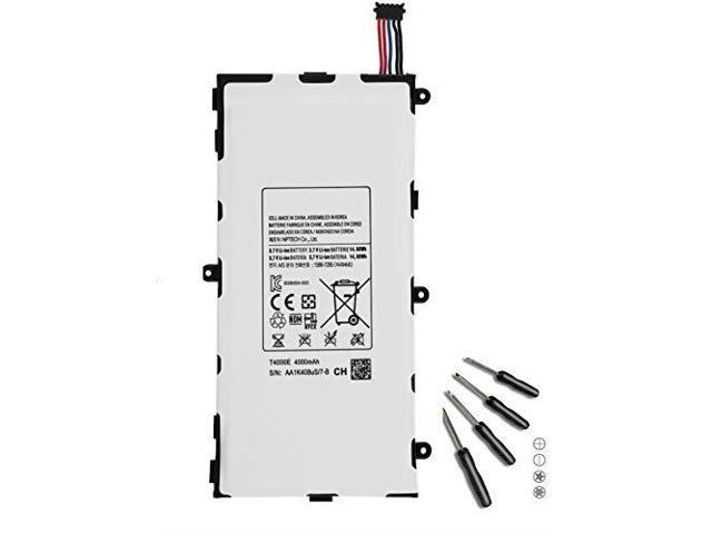 Damzon T4000E Replacement Battery 37v 4000mAh for Samsung Galaxy Tab 3 70  Inch SMT210 T211 T210R T217 T217S LT02 AA1K912uS7B T2105 P3200 15887285  with