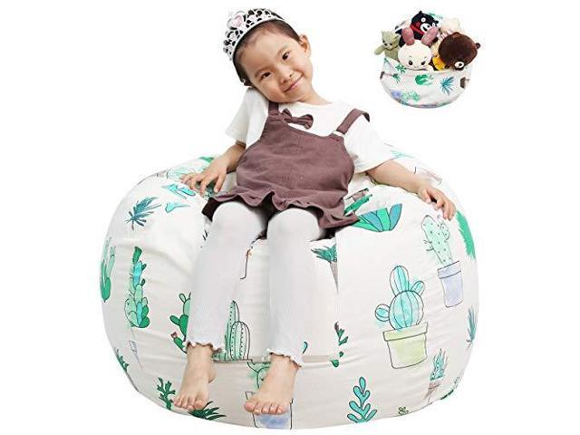 Admirable Great Eagle Stuffed Animal Storage Bean Bag Chair Cover 38X38 Inches Extra Large Cotton Canvas Bean Bag Chair For Kids Toddlers And Teensboys Or Squirreltailoven Fun Painted Chair Ideas Images Squirreltailovenorg