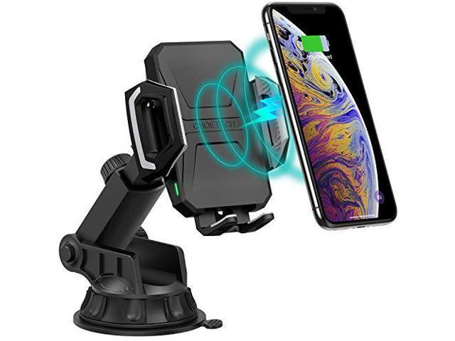 CHOETECH Wireless Car Charger 10W75W Qi Wireless Fast Charging Car Mount  USBC Dashboard Phone Holder Compatible with iPhone XSXS MaxXRX88+ Samsung