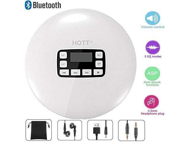Portable Bluetooth CD Player LCD DisplayHeadphone Jack AntiSkip Protection  AntiShock Ultra Thin Personal CD Music Disc Player Kids Adults Students