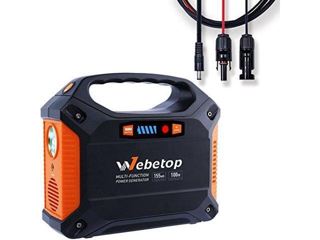 Webetop 155wh 42000mah Portable Generator Power Inverter Battery 100w Camping Emergency Home Use Ups Power Source Charged By Solar Panel With Mc4