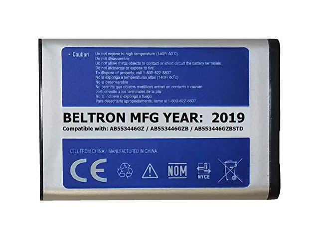 New 1000 mAh BELTRON Replacement Battery for Samsung U310 U340 U350 U410  U430 Verizon Wireless Flip Phone AB553446GZ AB553446GZB AB553446GZBSTD -
