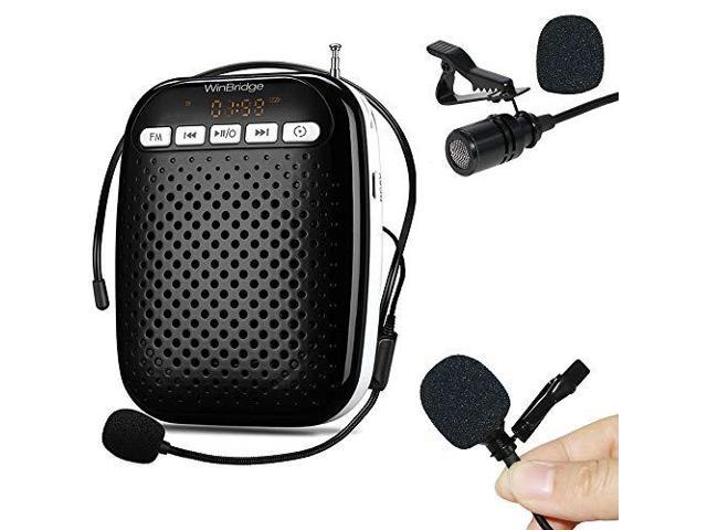 Updated WinBridge Voice Amplifier Microphone Headset Wired Loudspeaker  Voice Changer Megaphone Portable Microphone Mini Amp Pa System for Teachers