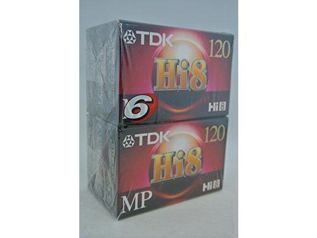 TDK Hi8 MP120 Premium Performance Camcorder Videotape 6pack - Newegg com