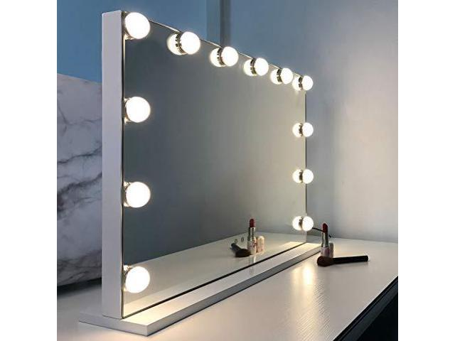 Wayking Makeup Mirror With Lights Hollywood Lighted Vanity Touch Screen Dimmer Newegg