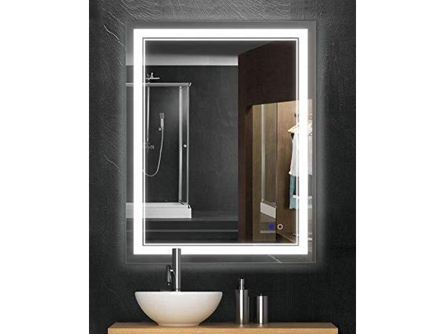 finest selection aa2b8 91a1a Keonjinn 20 x 28 Inch AntiFog HorizontalVertiacl Dimmable LED Bathroom  Vanity Mirror Large Wall Makeup Mirror with Light - Newegg.com