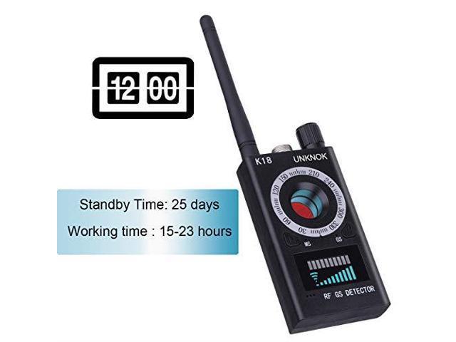 UNKNOK RF Signal Scanner Radio Antispy Hidden Camera Detector GSM Audio  Wireless Bug Signal Alarm Sweeper Finder GPS Tracker US Plug - Newegg com