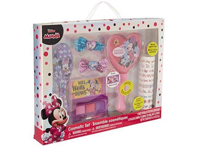 TownleyGirl Minnie Mouse Hair and Makeup Set with Bonus Light Up Mirror -  Newegg com