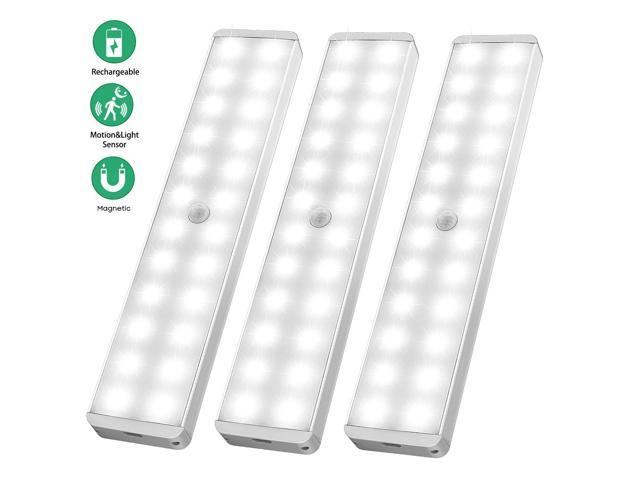 Led Closet Light 24 Newest Version Rechargeable Motion Sensor Wireless Under Cabinet With Large Battery Life For