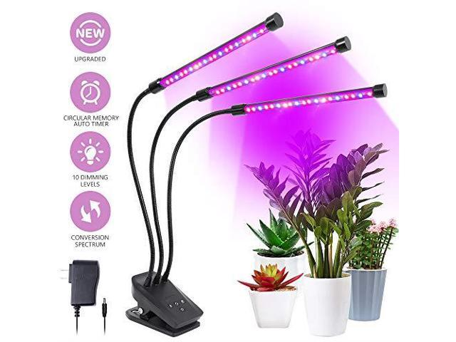 Grow Light Grow Lamp with Timer Auto ON amp Off Every Day for Indoor Plants  360 Degree Gooseneck Plant Lights10 Dimmable Levels and 3612H Timing for